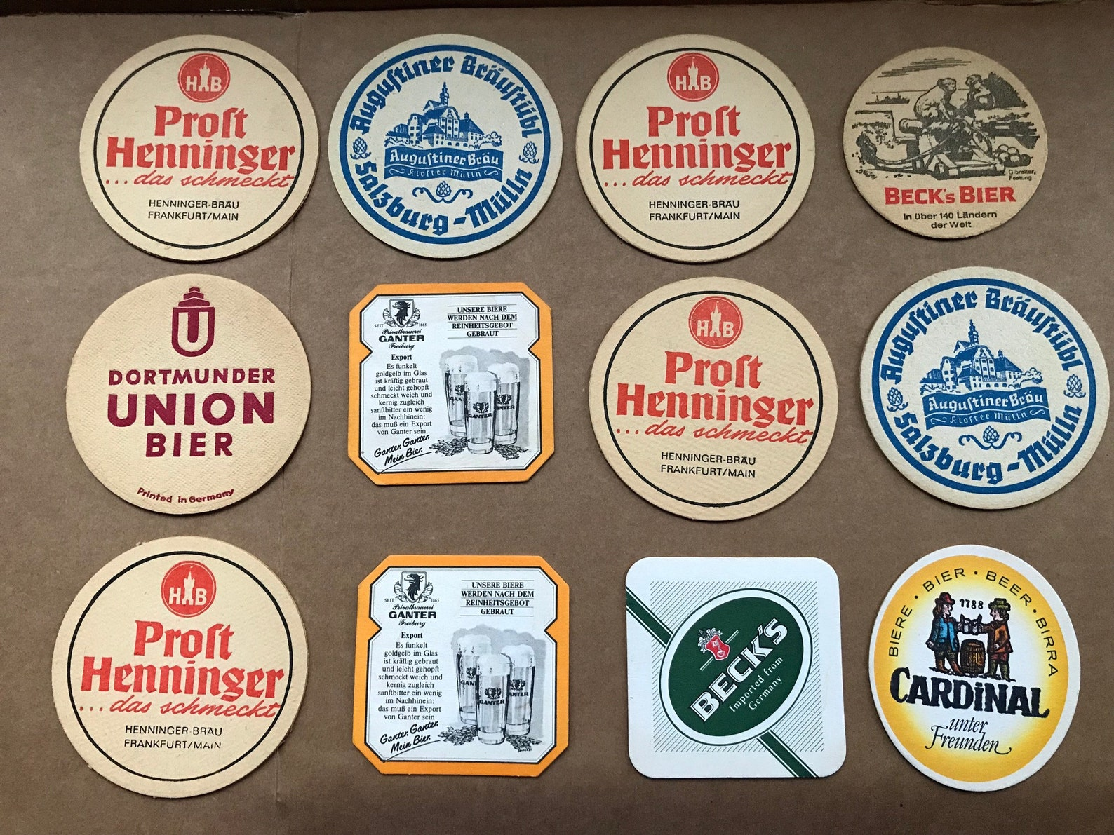 German Beer Coasters