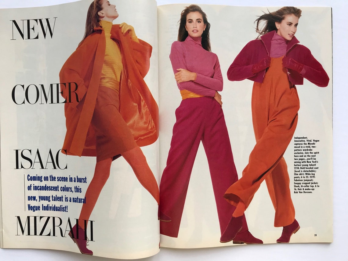 """Newcomer Isaac Mizrahi: Coming on the scene in a burst of incandescent colors, this new, young talent is a natural Vogue Individualist!"""
