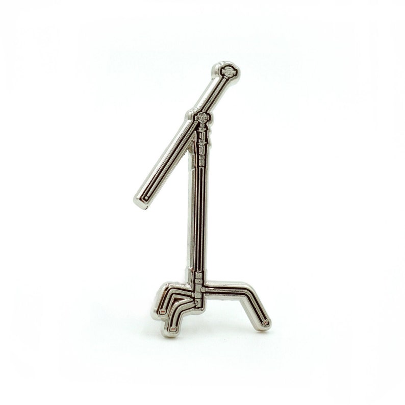 C Stand Enamel Pin for the filmmaker at heart. Perfect gift C-Stand pin