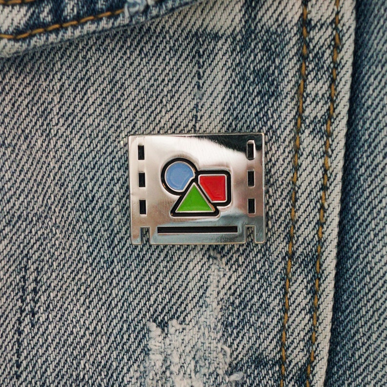 Pre-comp enamel pin Perfect for post production video image 0