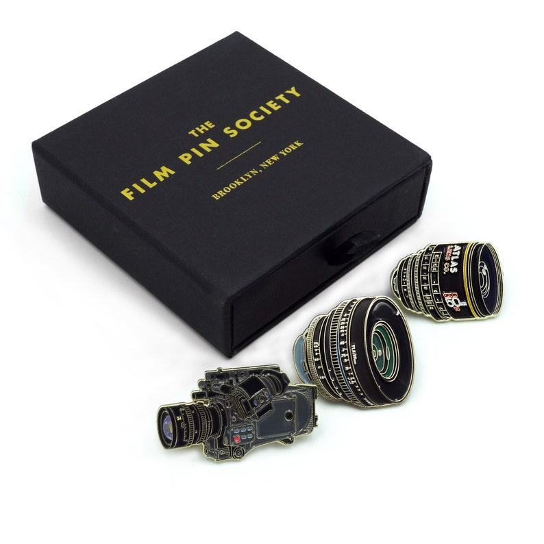 Cinematographer enamel pin box set Three amazing pins image 0
