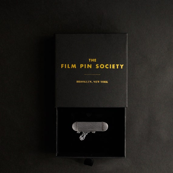 Boom Microphone enamel pin! Perfect for film production and sound  department!