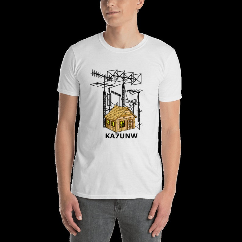 Ham Radio Shack T Shirt With Your Call Sign!