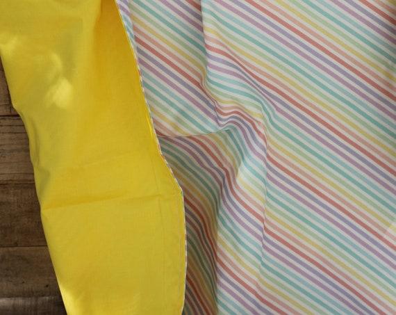 Kid's Organic Weighted Blanket, Child's Weighted Blanket, Sensory Blanket, Therapy Blanket, Autism Blanket, Glass Beads, Rainbows, Yellow
