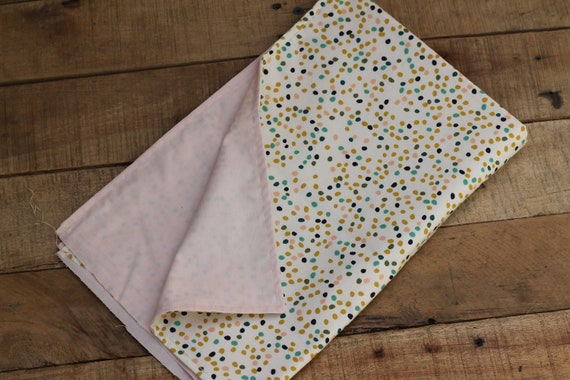 Child's Organic Weighted Lap Pad, Firefly/Blush, Organic Cotton, Glass Beads, Travel Lap pad, School Lap Pad, Choose Your Weight!