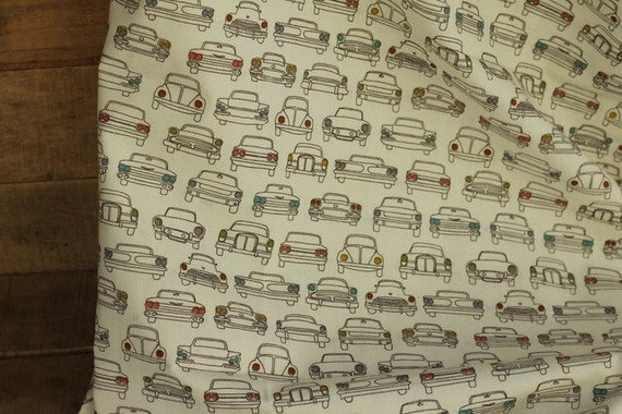 Adult/Teen Organic Weighted Blanket-Vintage Cars Organic Cotton Front/Organic Back/Glass Beads