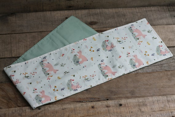 Organic Weighted Child's Shoulder Wrap, Sweet Deer/Mint Cotton, 3 Lbs,  Stress Relief, Gift For Kids, Relaxation Gift