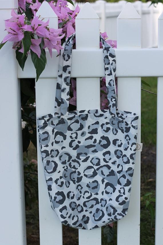 Organic Reusable Tote / Leopard / Shopping Tote / Eco Friendly Bag / Gift Bag / Market Bag / Reusable Bag / Fabric Shopping Bag