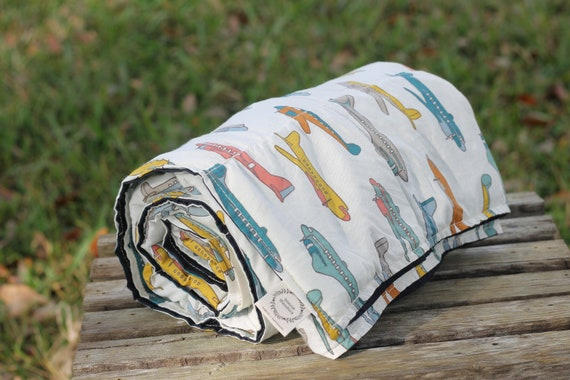 Organic Kids Weighted Blanket, Kids Weighted Throw, Heavy Blanket, Sensory Blanket, Organic Blanket, Glass Beads, Airplanes, Gifts For Kids