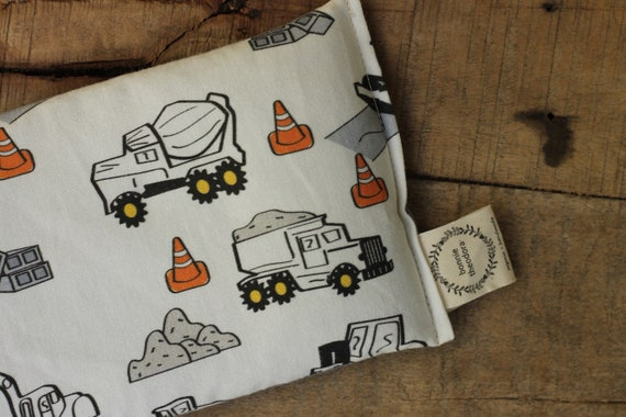 Dump Trucks / Organic Weighted Eye Mask / Glass Beads / Yoga Pillow / Sleep Mask / Eye Pillow / Headache Relief / Gift for her / Spa Gift