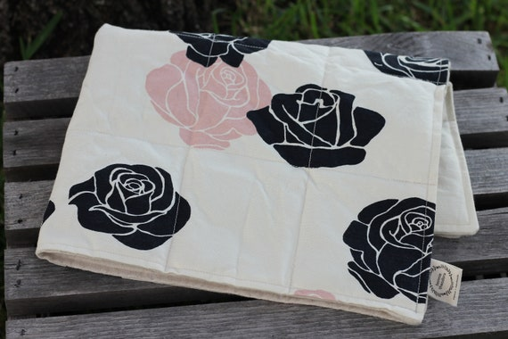 Organic Weighted Dog Blanket, Organic Dog Blanket, Pet Blanket, Thunderstorm Blanket, Dog Anxiety Blanket, Blush Roses, Approx  15X20