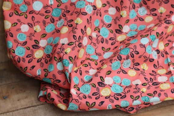 Adult Organic Weighted Blanket-Coral Roses Organic Cotton/Glass Beads/Gift for Her/Relaxation Gift/Anxiety/Insomnia/Graduation Gift
