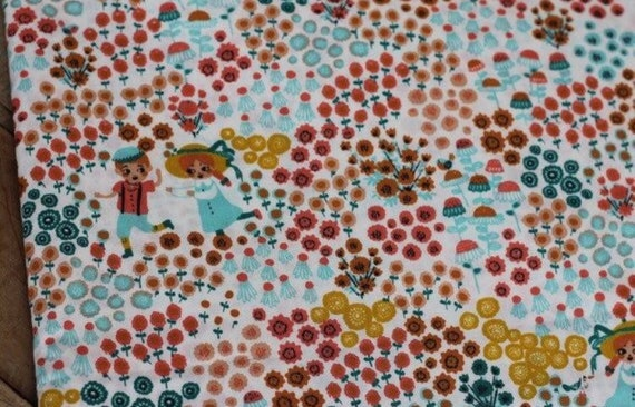 Adult Organic Weighted Blanket-Cream Hidden Garden Organic Cotton Front/Organic Back/Glass Beads