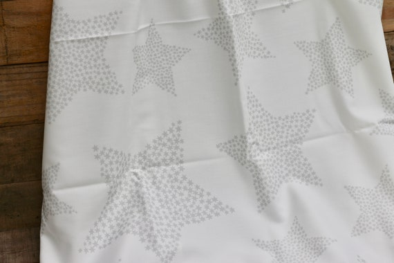 Child's Organic Weighted Blanket, Weighted Blanket, Heavy Blanket,  Gray Stars Organic Cotton/Choose Your Back, Glass Beads, Organic Bedding