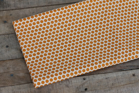 Organic Cotton Child's Weighted Blanket,  Orange Spots, Kids Weighted Blanket, Sensory Blanket, Autism Blanket, Glass Beads, Gift For Kids