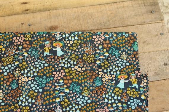 Adult Organic Weighted Blanket-Dusk Hidden Garden Organic Cotton Front/Organic Back/Glass Beads