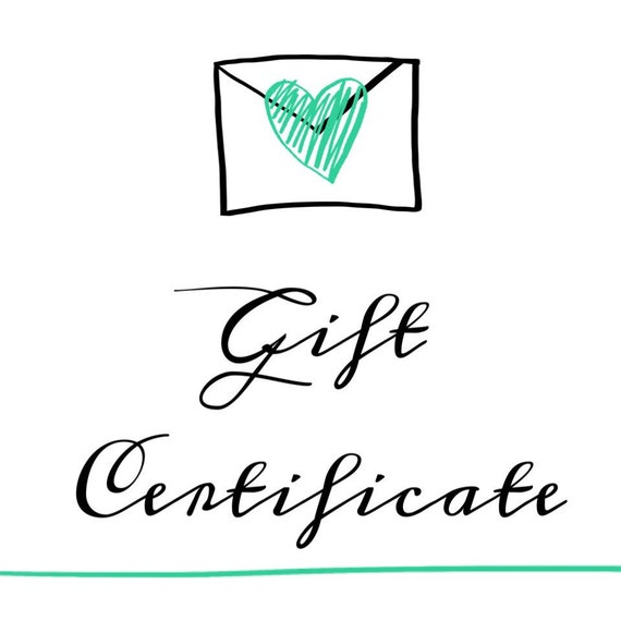 "Gift Certificate-With Personalized ""Your Gift Is Coming"" Printable"