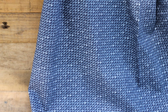 Child's Organic Weighted Blanket, Blue Triangles Organic Cotton, Custom Blanket,  Glass Beads, Gift For Kids, Kids Bedding, Autism Gift,