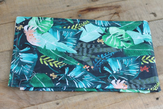 Adult Organic Weighted Lap Pad, Tropical Flowers Organic Cotton, 16X24,  Glass Beads, Travel Anxiety, PTSD,  School Lap Pad, Relaxing Gift