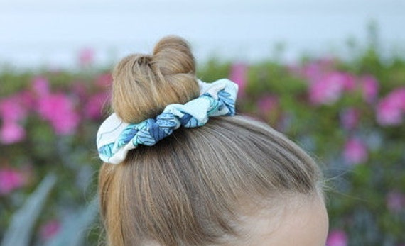 Organic Fabric Scrap Scrunchies / Hair Accessories / Gifts for Kids