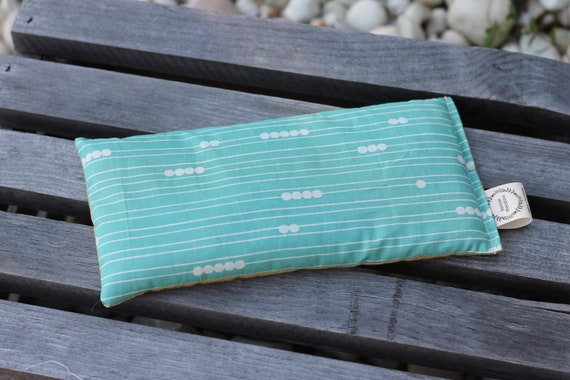 Organic Weighted Eye Mask / Pool Abacus  / Glass Beads / Sleep Mask / Yoga Pillow / Eye Pillow / Headache Relief / Gift for her or him