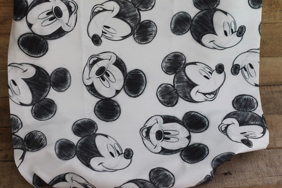 Child's Organic Weighted Blanket-Mickey Mouse Organic Cotton/Choose Your Back, Glass Beads