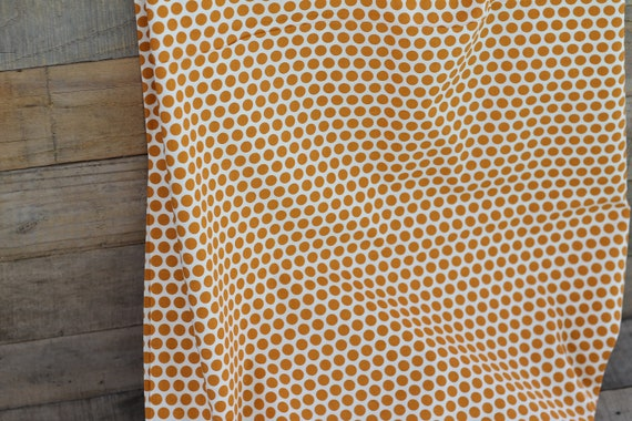 Adult Organic Cotton Weighted Blanket, Weighted Blanket, Glass Beads, Sensory Blanket, Organic throw, Pumpkin Spots, Choose Your Back!