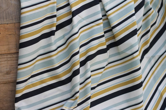Adult/Teen Organic Weighted Blanket/ Mint Stripe and Gold Organic Cotton Front / Glass Beads / Valentines Day Gift / Weighted Blanket