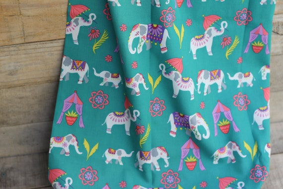 Organic Cotton Child's Weighted Blanket,  Elephant Parade Kids Weighted Blanket, Sensory Blanket, Autism Blanket, Glass Beads, Gift For Kids