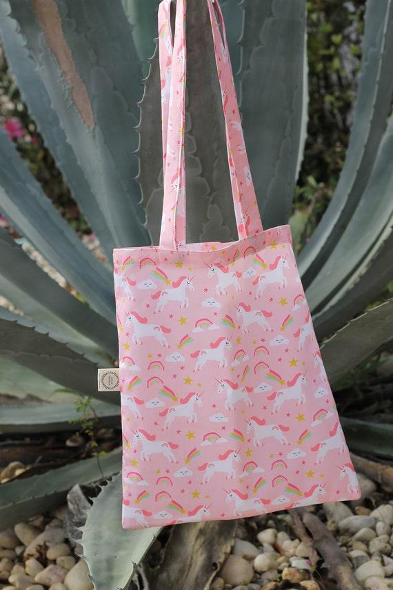 Kid's Organic Tote Bag ,Organic Book Bag, Eco Friendly Bag, Overnight Bag,  Kids Purse, Unicorn Bag, Book Tote, Birthday Gift For Kids