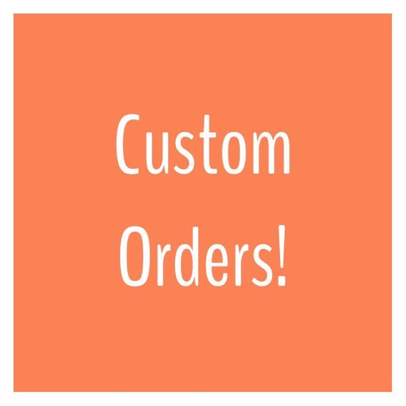 Adult Custom Order! Choose Your Fabric, Choose Your Weight!