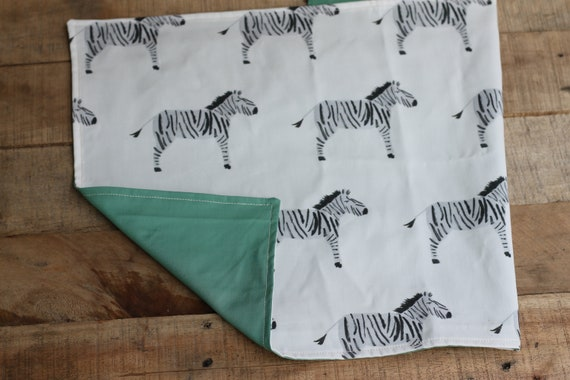 Child's Organic Weighted Lap Pad, Zebras/Pond Organic Cotton, Glass Beads, School Lap Pad, Choose Your Weight!