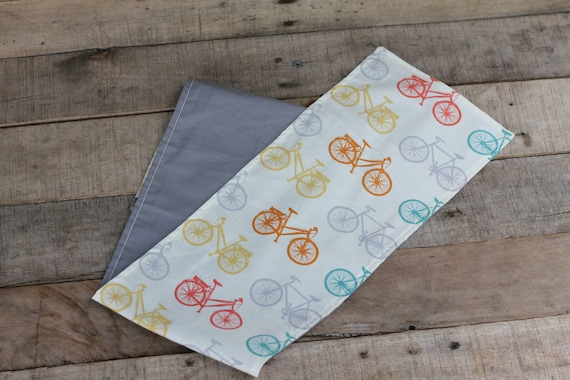 Children's Organic Weighted Shoulder Wrap, Bicycle and Gray Organic Cotton,  3 Lbs, Glass Beads, Kids Gift, Special Needs Gift, Autism