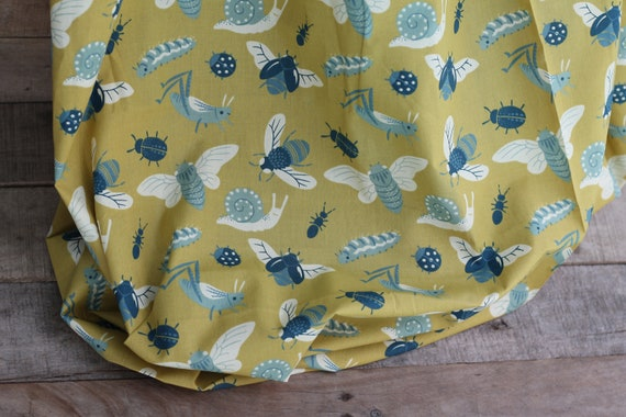 Organic Cotton Child's Weighted Blanket, Bugs, Weighted Throw, Heavy Blanket, Sensory Blanket, Organic Blanket, Glass Beads, Organic Throw