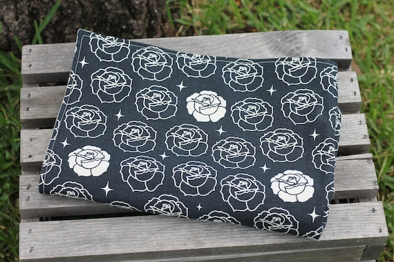 Organic Weighted Dog Blanket, Organic Dog Blanket, Pet Blanket, Thunderstorm Blanket, Dog Anxiety Blanket, Stamped Roses, Approx  15X20