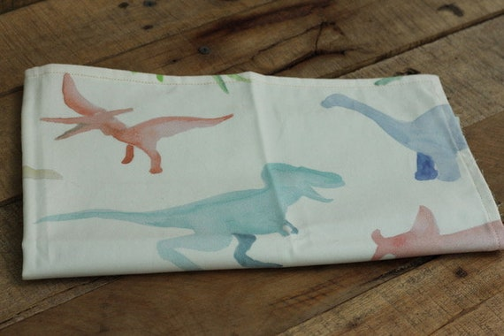 Child's Organic Weighted Lap Pad,Watercolor Dinos Organic Cotton, Glass Beads, School Lap Pad, Choose Your Weight!