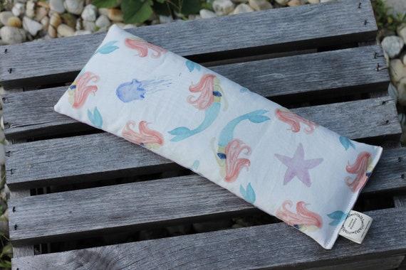 X-tra Long Organic Weighted Eye Mask  / Mermaids / Glass Beads  / Yoga Pillow / Eye Pillow / Headache Relief / Stress / Gift For Wife