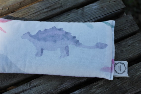 Dinosaur / Organic Weighted Eye Mask / Glass Beads / Sleep Mask / Yoga Pillow / Headache Relief / Gift for her / Spa Gift / Eye Pillow
