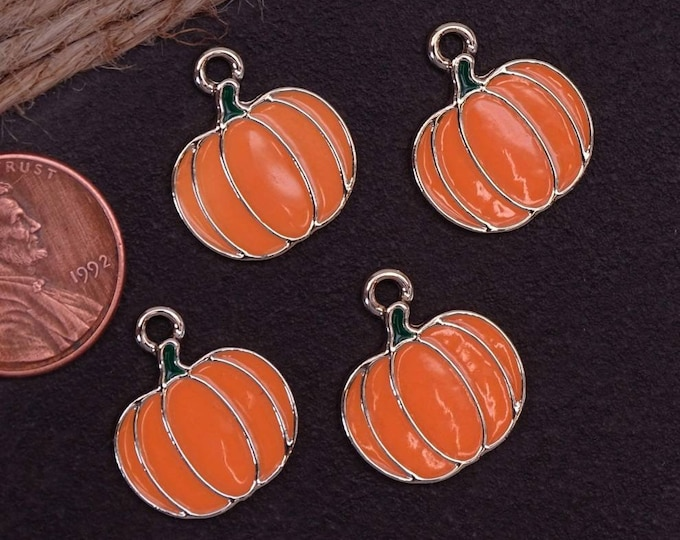 12 pc Pumpkin, Pumpkin charm, fall charms. Alloy charm ,very high quality.Perfect for jewery making and other DIY projects