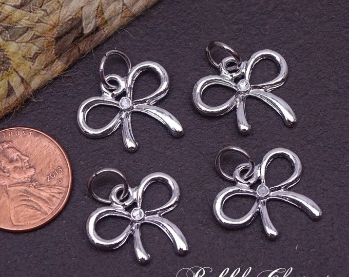 12 pc Bow charm, bow, pretty bow. Alloy charm, very high quality.Perfect for jewelry making and other DIY projects box 6