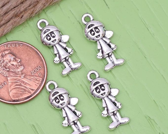12 pc Boy charm, little boy charm, boy, alloy charm, charm, charms, box 20