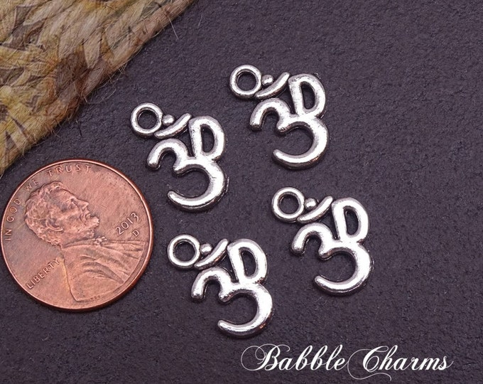 12 pc Om charm, aum, yoga charm, relax, yoga charms, Alloy charm,very high quality.Perfect for jewelry making and other DIY projects, box 22