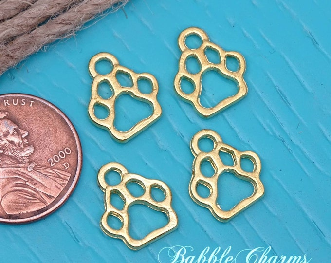 12 pc Paw Print charm, paw print, pet charm, alloy charm 20mm very high quality..Perfect for jewelry making and other DIY projects, box 2