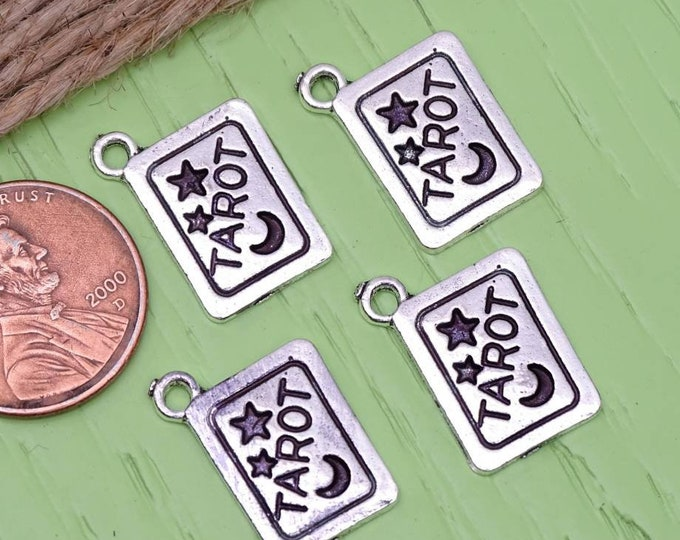 12 pc Tarot Card charm, tarot charm, charm, charms, Alloy charm, high quality.Perfect for jewelry making and other DIY projects, box22