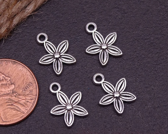 12 pc Flower charm, flower charms. Alloy charm ,very high quality.Perfect for jewery making and other DIY projects