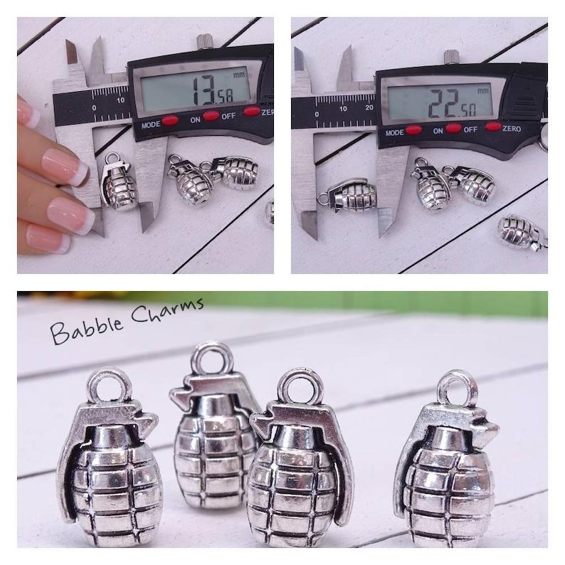 grenade grenades wholesale charm alloy grenade charm alloy charm 12 pc Grenade charm