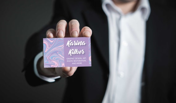 1000 Gloss Over Matte Business Cards Etsy