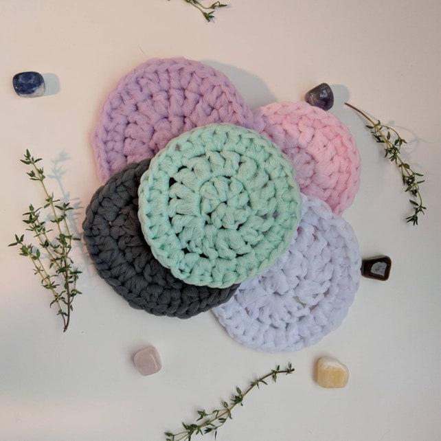 Heavy Duty Scrubbie Made W Tulle Crochet