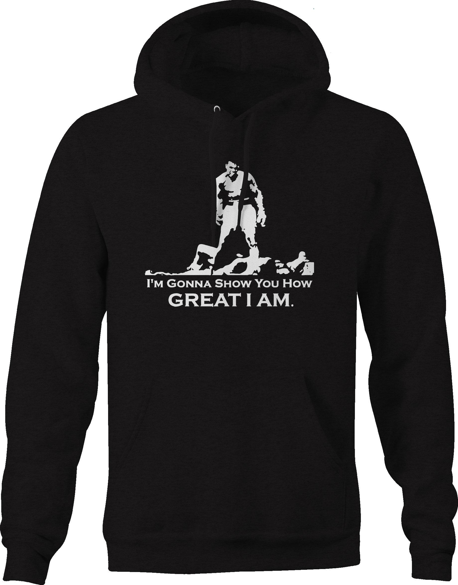 Muhammad Ali, que je vais vous montrer montrer vous vous boxe citation Sweat à capuche 911be9