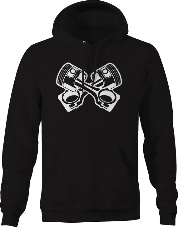 Crossed Piston Logo Hoody Hoodie Hooded Top